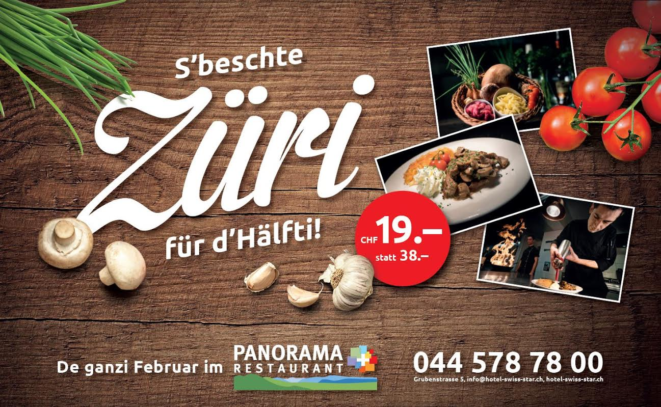 "<a href=""http://www.hotel-swiss-star.ch"" target=""_blank"">Züri für d' Hälfti</a>"