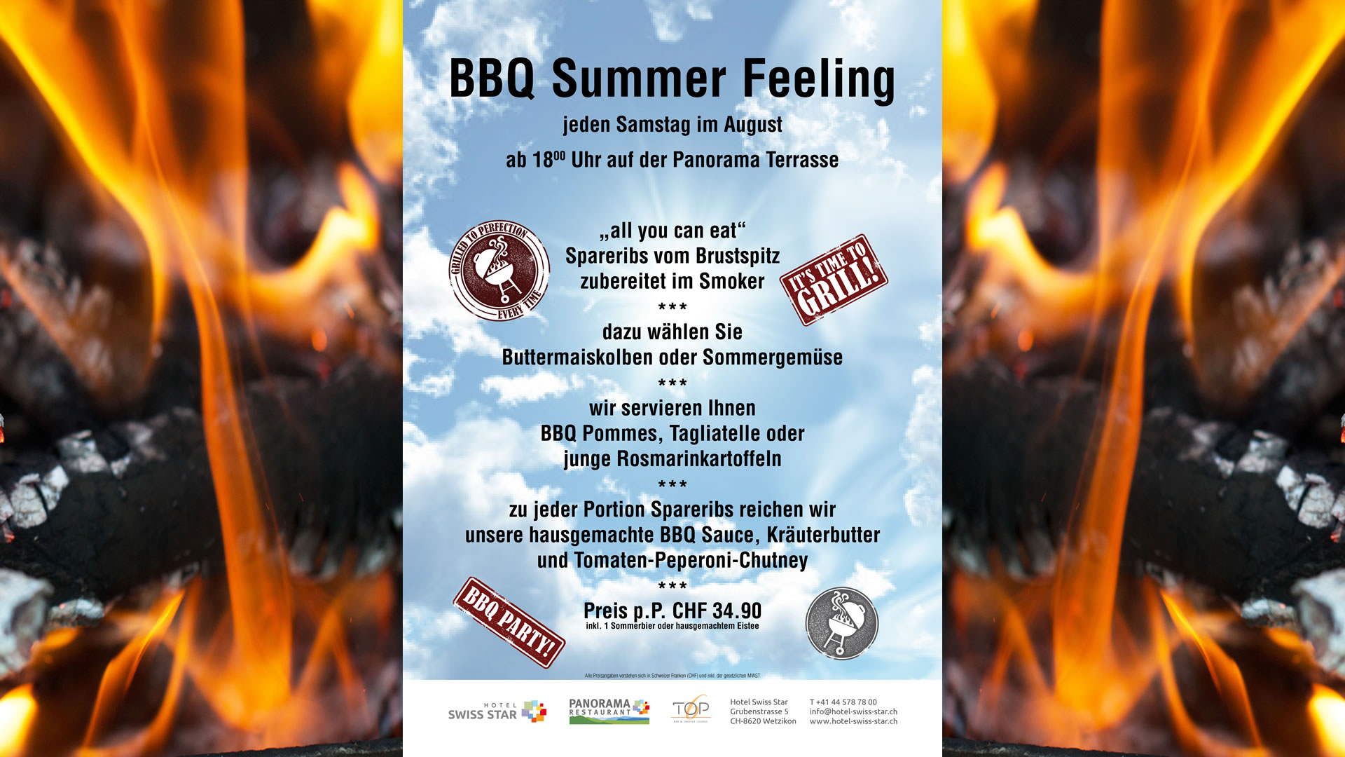 <span style=&quot;color: #000000&quot;><a href=&quot;http://www.hotel-swiss-star.ch/wp/wp-content/uploads/2015/04/2017_BBQ_A4-Panorama-Restaurant-im-Hotel-Swiss-Star.pdf&quot; target=&quot;_self&quot;><span style=&quot;color: #ffffff&quot;>BBQ Summer Feeling</span> 	</a>
