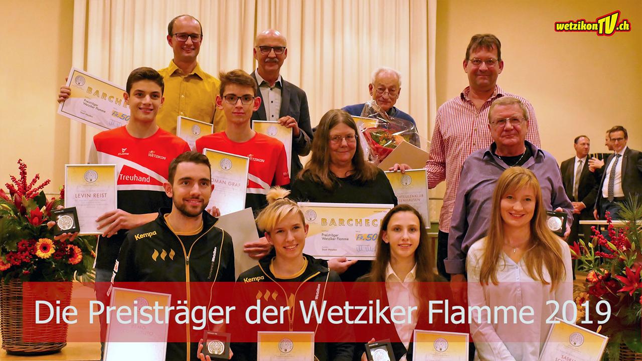 Die Preisträger der Wetziker Flamme 2019
