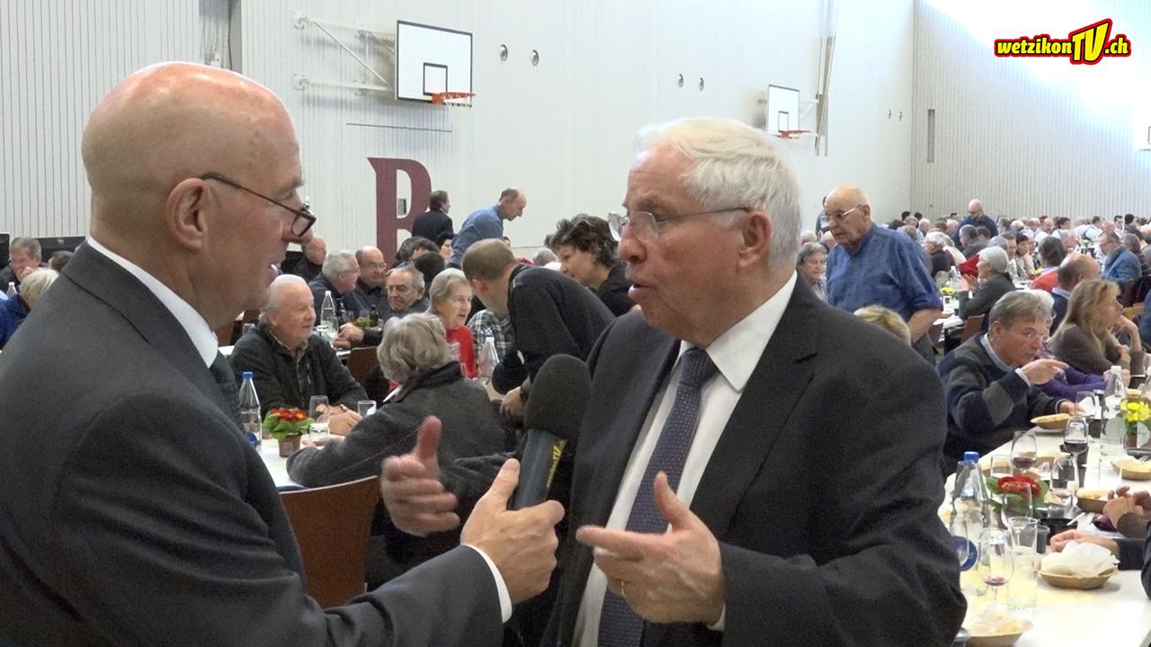 Christoph Blocher würdigt Zürcher Oberländer Persönlichkeiten